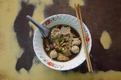 Thailändische köstliche Rindfleischnudel Lizenzfreies Stockfoto