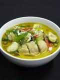 Thailändische Küche, gaeng kiaw waen gai Stockbild