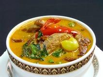 Thailändische Küche, roter Curry mit Entenbraten Lizenzfreies Stockbild