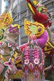 Thailändische künstliche frische Blumen Stockbild
