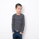Thailändische Kinder-Reihe lizenzfreies stockfoto