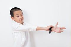 Thailändische Kinder-Reihe lizenzfreies stockbild