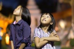 Thailändische kleine Mädchen Stockfoto