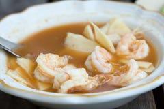 Thailändische Kokosnussgelb-Currygarnele Lizenzfreie Stockfotos