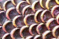 Thailändische Kunst- und Dracheskalen Stockbilder