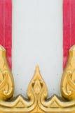 Thailändische Kunsttempelwand Lizenzfreies Stockbild