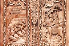 Thailändische Kunstwand Stockfoto