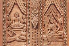 Thailändische Kunstwand Lizenzfreie Stockbilder
