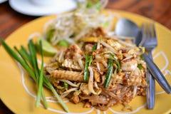 Thailändische Lebensmittelanruf ` Auflage thailändisches ` lizenzfreies stockbild