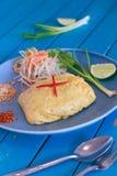 Thailändische Lebensmittelauflage thailändisch Stockbild