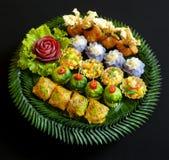 Thailändische Lebensmittelmischungsaperitifs Stockbild