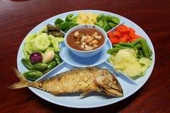 Thailändische Lebensmittelpaprikamakrele Stockbild