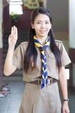 Thailändische Lehrerpfadfinderinnen Stockbild