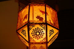 Thailändische lokale Lampe Stockbild