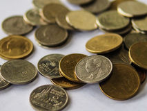Thailändische Münze Stockbild
