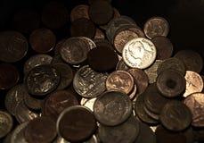 Thailändische Münzen, MAJESTÄT König Bhumibol Adulyadej, Rama IX der Chakri-Dynastie Lizenzfreie Stockfotografie