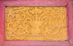 Thailändische Malerei im Tempel Lizenzfreie Stockbilder