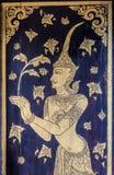 Thailändische Malerei im Tempel Lizenzfreies Stockfoto