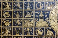 Thailändische Malerei im Tempel Stockfotografie