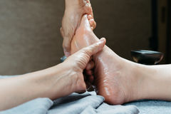 Thailändische Massage-Reihe stockbild