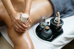 Thailändische Massage-Reihe Stockfotos