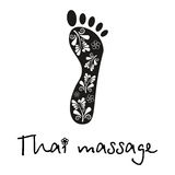Thailändische Massage in Schwarzweiss Stockbild