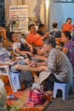 Thailändische Massage in Thailand lizenzfreie stockbilder
