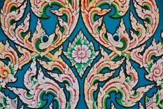 Thailändische Muster-Buddhist-Wandgemälde Stockbilder