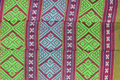 Thailändische Musterkunstart auf Baumwollkissen Lizenzfreies Stockfoto