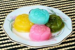 Thailändische Nachtisch Schicht-süßer Kuchen stockbild