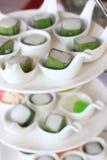Thailändische Nachtischkokosmilch Stockfotografie