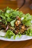 Thailändische Nahrung, thailändischer würziger gehackter Schweinefleischsalat Lizenzfreie Stockfotografie