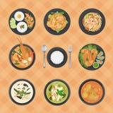 Thailändische Nahrungsmittelsammlung Stockbilder