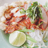 Thailändische Nudel Stockbild