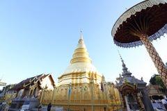 Thailändische Pagode in Lamphun Thailand stockfotos