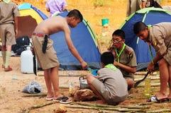 Thailändische Pfadfinder lizenzfreie stockfotos