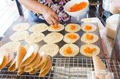 Thailändische Pfannkuchen Stockbilder
