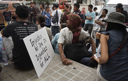 Thailändische politische Krise Stockbild