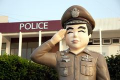 Thailändische Polizei der Statue Lizenzfreies Stockbild