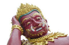 Thailändische riesige Statuen stockfotografie