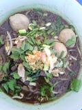 Thailändische Rindfleischnudeln Stockbild