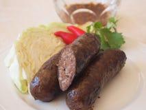 Thailändische Rindfleischwürste Stockfotos