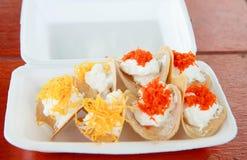 Thailändische süße knusperige Creme stockbild