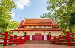 Thailändische schöne Architektur, Tempel. Lizenzfreie Stockfotos