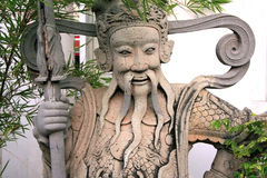 Thailändische Skulptur - Wat-pho Tempel - Bangkok Stockfotografie