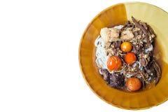 Thailändische Suppennudeln, thailändische Nordnudeln lizenzfreies stockbild