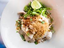 Thailändische Suppennudelnudelart Stockfotos