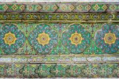 Thailändische Tempel-Wat Ratchabophit Wall-Kunst stockbild