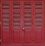 Thailändische traditionelle antike Tür Stockfoto