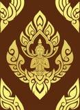 Thailändische traditionelle Kunst nahtlos Stockbilder